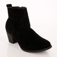 Sally Ankle Boot in Black - ShopSosie.com