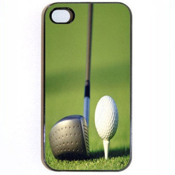 iPhone 4 Case Golf Club and Ball on Tee in Black or by KustomCases