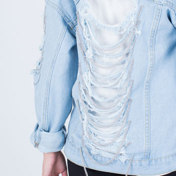 Chained Denim Jacket