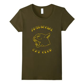 Anti Social Cat Club Vintage Tiger Head T shirt