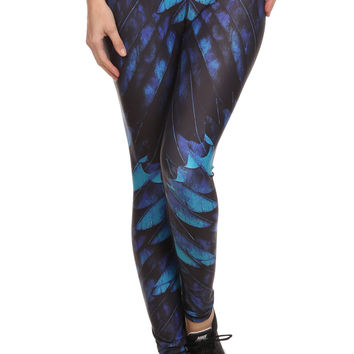 Blue Feather Dream Leggings