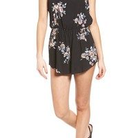 Mimi Chica Floral Print Romper | Nordstrom