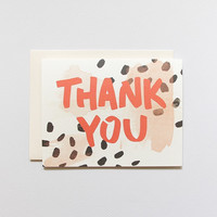 Spotted Thank You Card