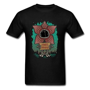 Stranger Things Demogorgon Free Hugs Demons Funny Tshirts Corpse Flower Plant Easter Day High Quality Cotton Tee Shirt Men