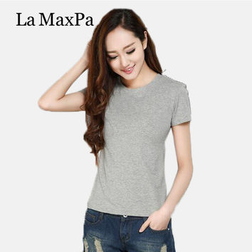 Tumblr Tops Camisetas 2017 Special Offer Direct Selling Solid Twill O-neck Casual Cotton Regular T Shirt Women Blusa Unicorn