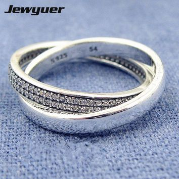 2017 New Autumn Promise Ring 925 sterling silver wedding Rings for women men love anillos fine jewelry Memnon Jewyuer RIP0139