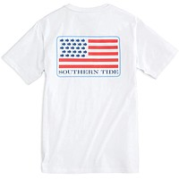 Skipjack United Tee Shirt in Classic White by Southern Tide
