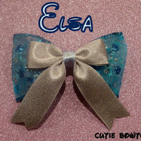 Elsa hair bow Disney Frozen Inspired