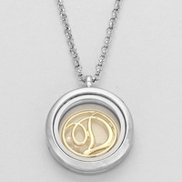 "Floating Monogram ""D"" Necklace Silver"