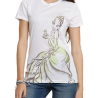 Disney The Princess And The Frog Tiana And The Frog Girls T-Shirt