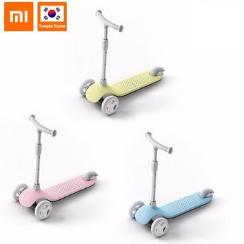 Xiaomi Mitu Kids Scooter 3 Wheels LED Children Folding Outdoor Sport Scooters Adjustable Handle Bodybuilding for 3-6 Years Old