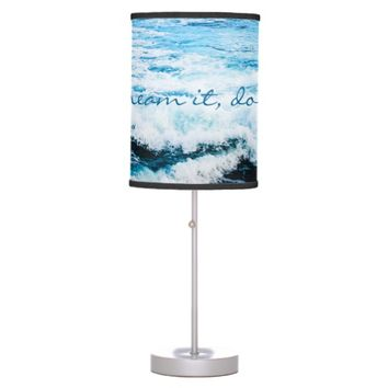 Hawaii turquoise ocean waves photo table lamp