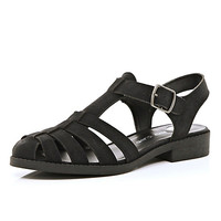 River Island Womens Black strappy gladiator sandals