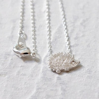 Mini Silver Plated Hedgehog Necklace - CLEARANCE