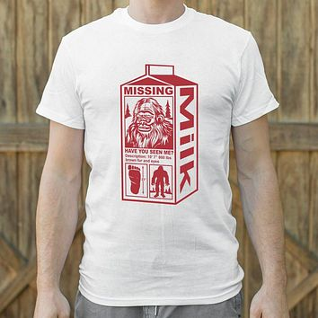 Sasquatch on Milk Carton Men's T-Shirt