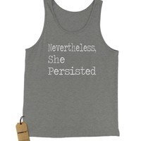 Nevertheless, She Persisted Jersey Tank Top for Men