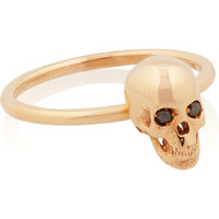 Ileana Makri | Skull 18-karat rose gold diamond ring | NET-A-PORTER.COM