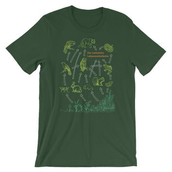 Food Chain Science T-shirt Vintage German Diagram Graphic Cycle Tee
