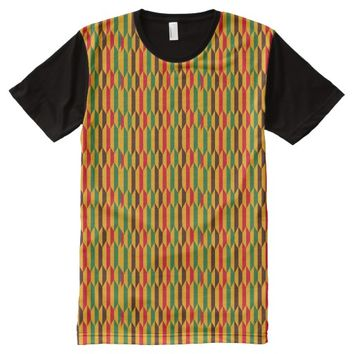 Colorful Kente All-Over-Print Shirt