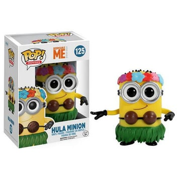 Despicable Me 2 Minions POP Grass skirts action Figures minion 3D eye Toys PVC doll Brinquedos Kids Birthday Christmas Gift