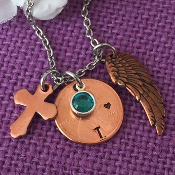 Memorial Jewelry Necklace - Pennies from Heaven - Penny memorial necklace - Remembrance Necklace Sympathy gift - Penny jewelry