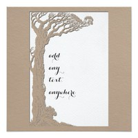 Old Tree Silhouette All Occasion Card