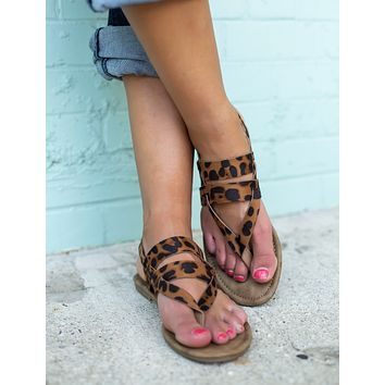 The Grace Sandals - Leopard