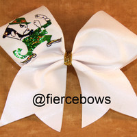 Fighting Irish Cheer Bow by MyFierceBows on Etsy