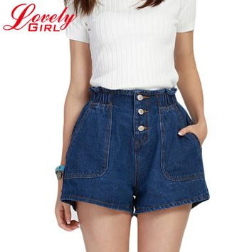 Drop Shipping Shorts Women 2018 Summer Hot  Shorts Loose Blue Short Femme Big Size Woman Short Jeans Cheap Clothes China