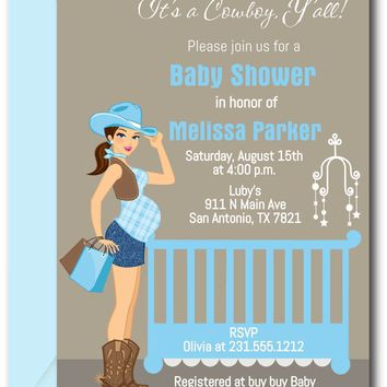 Cowboy Baby Shower Invitations