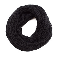 Easy Breezy Infinity Scarf - Black