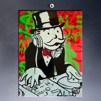 Alec music DJ PICTURE  canvas print POP ART Giclee poster print on canvas  for wall decoration painting