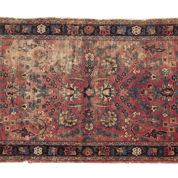 3x5 Antique Kerman Rug