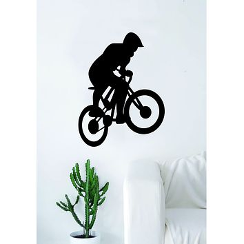 BMX Biker V2 Silhouette Wall Decal Sticker Bedroom Living Room Decor Art Vinyl Sports Bicycle Bike Cycle Teen Kids