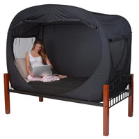 Privacy Pop Bed Tent at Brookstone—Buy Now!