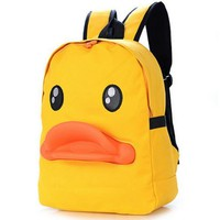 Women Bacpack Hot The new three-dimensional duckbill package  personality little duck canvas shoulder bag school bag Female bag
