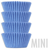 Mini Light Blue Baking Cups