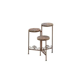 Zingz & Thingz Antiqued 3 Level Plant Stand