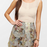 Urban Outfitters - Sparkle & Fade Mesh Inset Jacquard Dress
