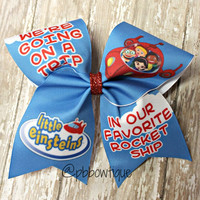 Little Einsteins Cheer Bow Soccer Bow or Softball Bow