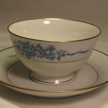 Noritake Forget-me-not Tea Cup and Saucer