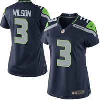 Nike Russell Wilson Seattle Seahawks Women's Game Jersey - College Navy