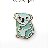 KOALA PIN enamel pin cute enamel pin kawaii pin kawaii koala enamel pin - gift for her - koala jewelry - koala bear - cute enamel pin
