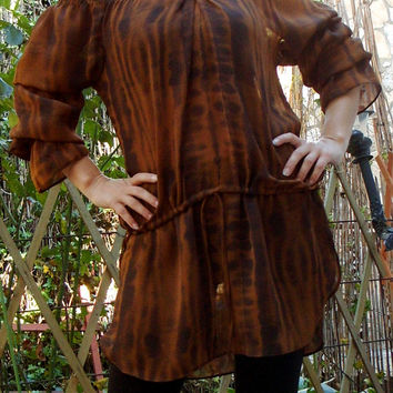 COSPLAY Peasant Shirt, Renaissance Chemise, Gypsy Bohemian Top, Long Flared Sleeves,Pirate Blouse, Boho Top, Pirate Dress
