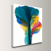 Abstract Floral, 24x30 Giclee Canvas Art