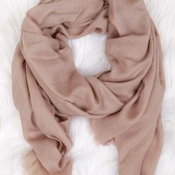 Open End Pashmina Taupe