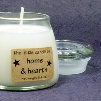 Home & Hearth Soy Candle Jar - Hand Poured and Highly Scented Container Candles