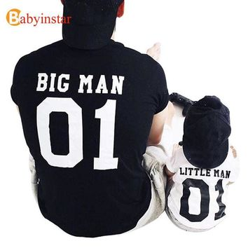 DCCKNY6 (Big Man & Little Man) Father Son Matching Tops Tees Family Matching Outfits Family Look Creative T-shirt New Arrival