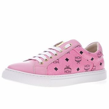 MCM Classic Low Casual Shoes ¡°Pink LOGO¡± HX816-525