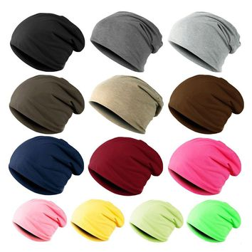 Womens Mens Candy Colours Knitted Winter Warm Ski Crochet Slouch Hat Cap Beanie